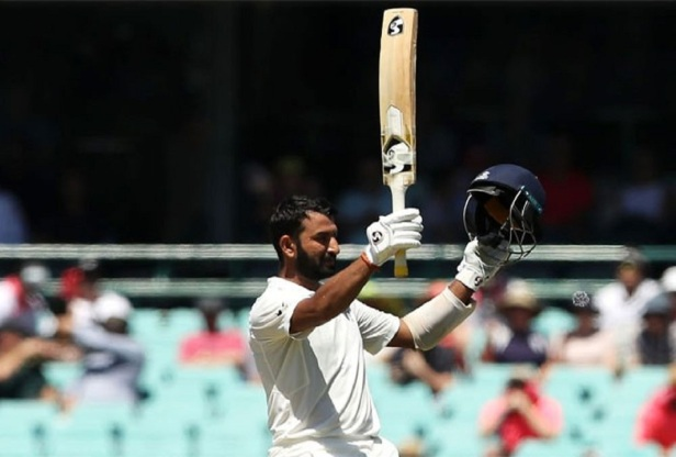 Man of the Match and Man of the Series award for Cheteshwar Pujara